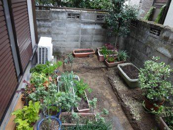 M様邸 花壇土間コンクリート・ブロック積み