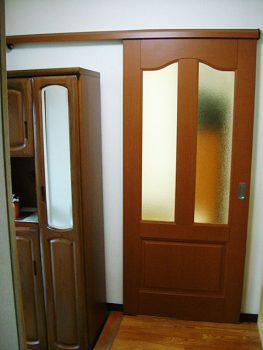 O様邸 開き戸から引き戸へ