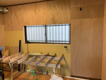 キッチン:水道・ガス配管と下地補修後