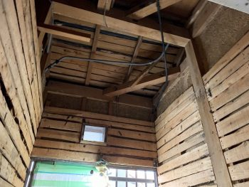 浴室リフォーム:解体後の電気配線工事