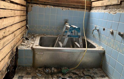 浴室リフォーム:解体中