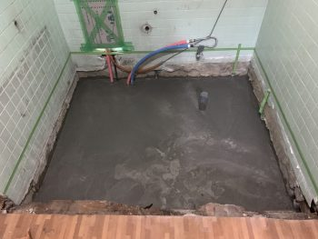 基礎の完成!ユニットバスの安定した設置面を作るため土間コンクリートを打ちました。
