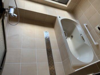 新しい在来浴室の完成です!